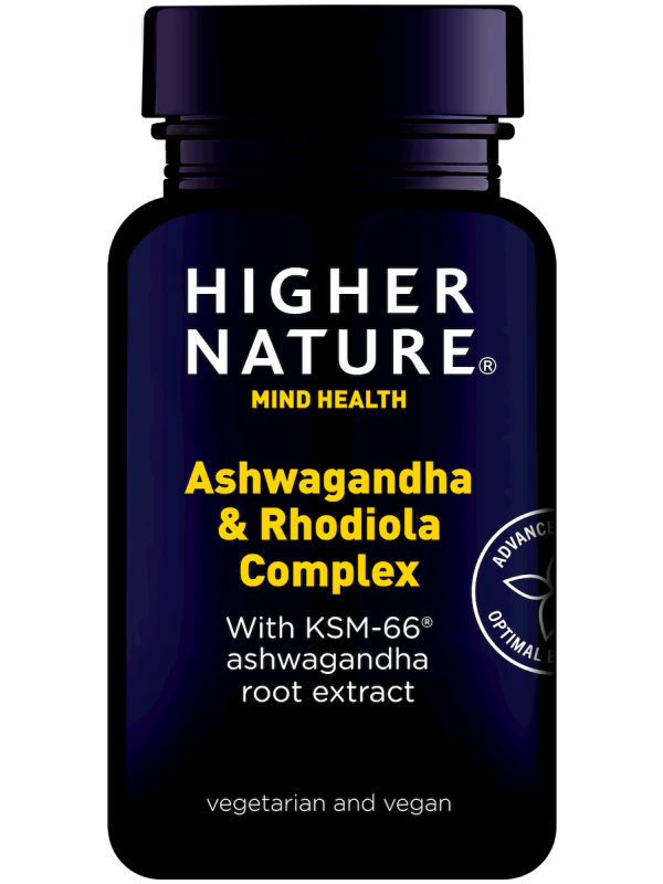 Ashwagandha & Rhodiola kompleks Higher Nature