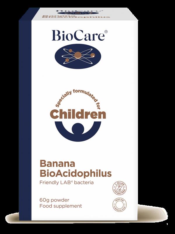 Banaanimaitseline BioAcidophilus probiootikumid lastele