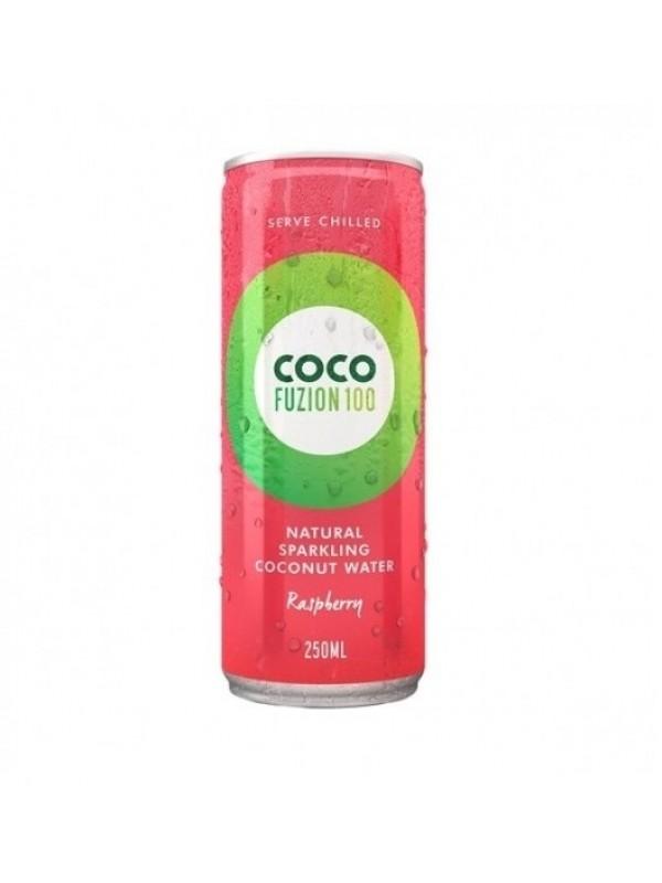 CocoFusion100 gaseeritud kookosvesi vaarikaga suhkruta 250 ml