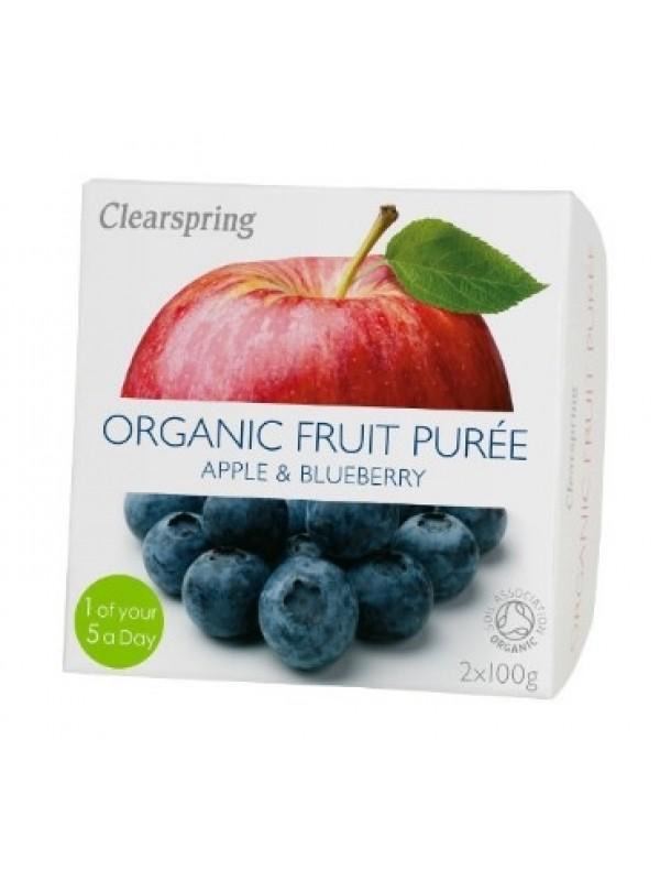 Clearspring õuna-mustikapüree 2x100g