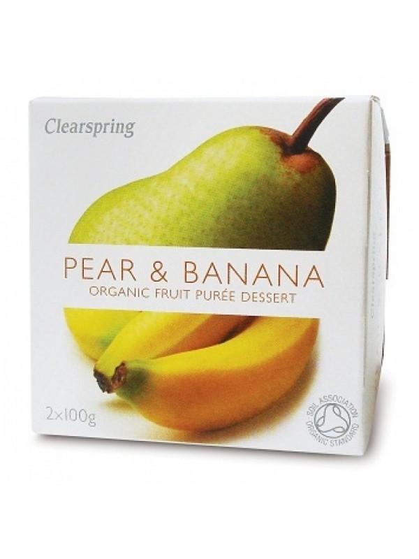 Clearspring pirni-banaani puuviljapüree 2x100g