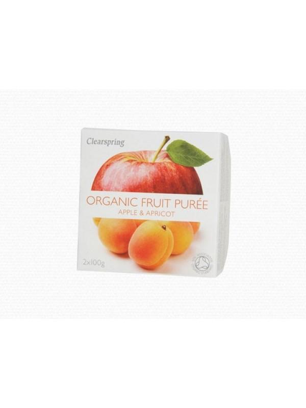 Clearspring õuna-aprikoosi püree 2x100g