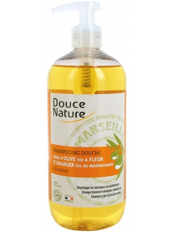 Douce Nature šampoon-dušigeel oliivi ja apelsiniõliga 500 ml