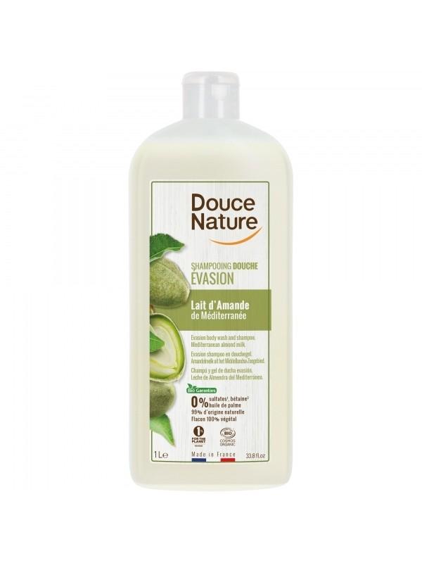 Douce Nature šampoon-dušigeel mandlipiimaga 1 L