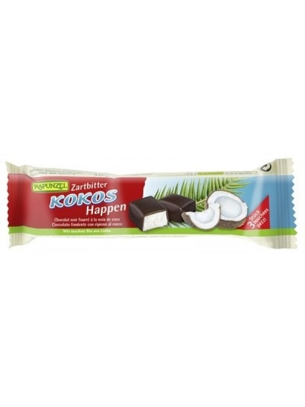 Rapunzel kookos mõrušokolaadis 50g