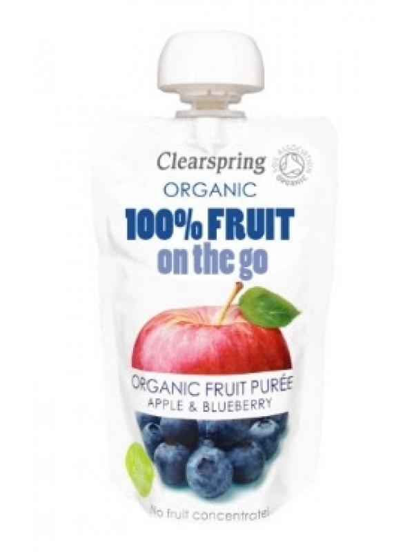 Clearspring õuna-mustikapüree 120g