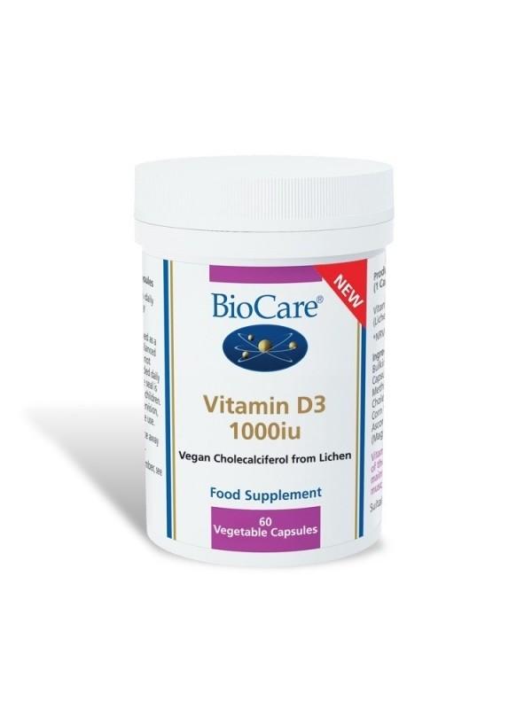 Vitamiin D3 vegan, 1000 iu 60 kaps