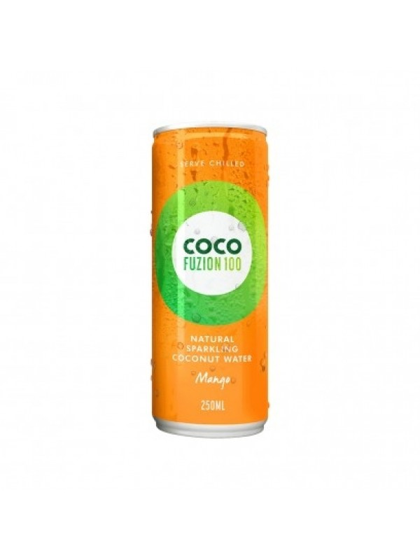 CocoFusion100 gaseeritud kookosvesi mango suhkruta 250 ml