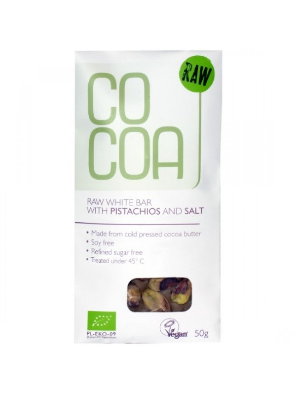 Cocoa tooršokolaad pistaatsia pähklite ja soolaga 50g
