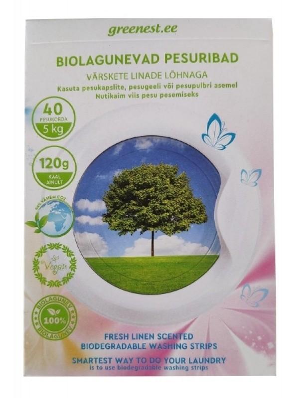 Biolagunevad pesuribad värskete linade lõhnaga 40 tk