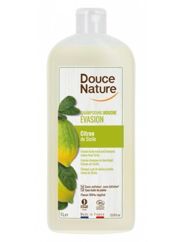 Douce Nature šampoon-dušigeel Sitsiilia sidruniga 1 L