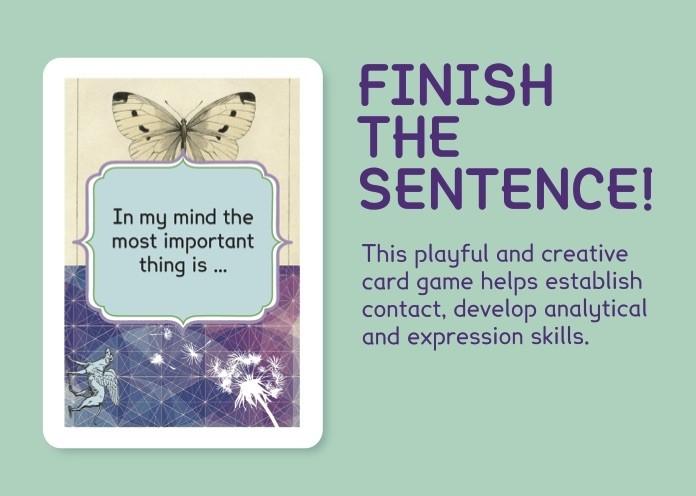 Finish the sentence!
