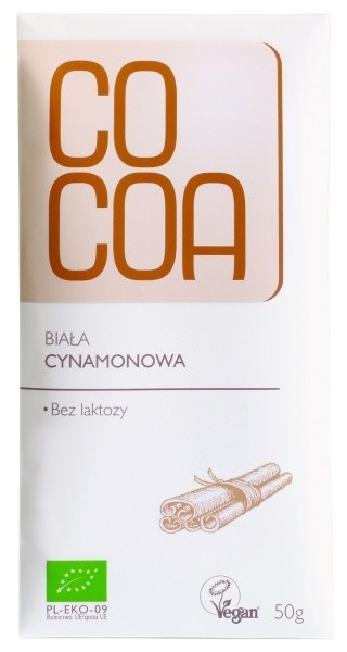 Cocoa valge toorsokolaad kaneeliga 50g