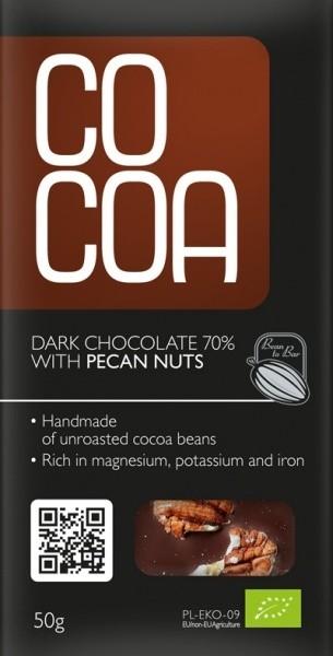 Cocoa tooršokolaad pekaani pähklitega 50g