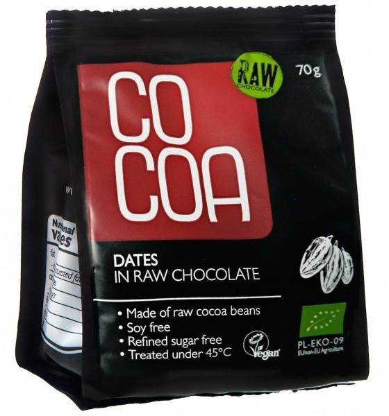 Cocoa datlid toorsokolaadis 70g