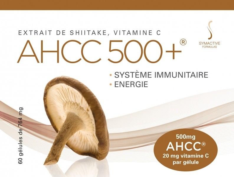 AHCC 500+ Shiitake ekstrakt C vitamiiniga 60 caps