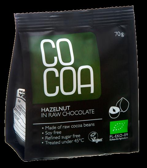 Cocoa metsapähkel toorsokolaadis 70g