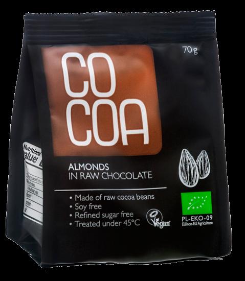 **Cocoa mandlid tooršokolaadis 70g