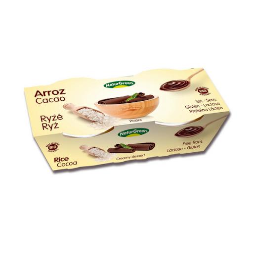 Naturgreen riisidessert kakaoga 2x125g
