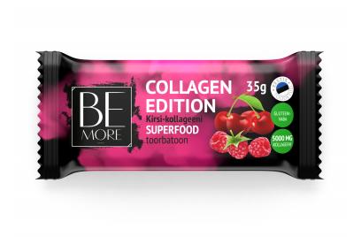 Be More Collagen Edition kirsi-kollageeni superfood toorbatoon 35g
